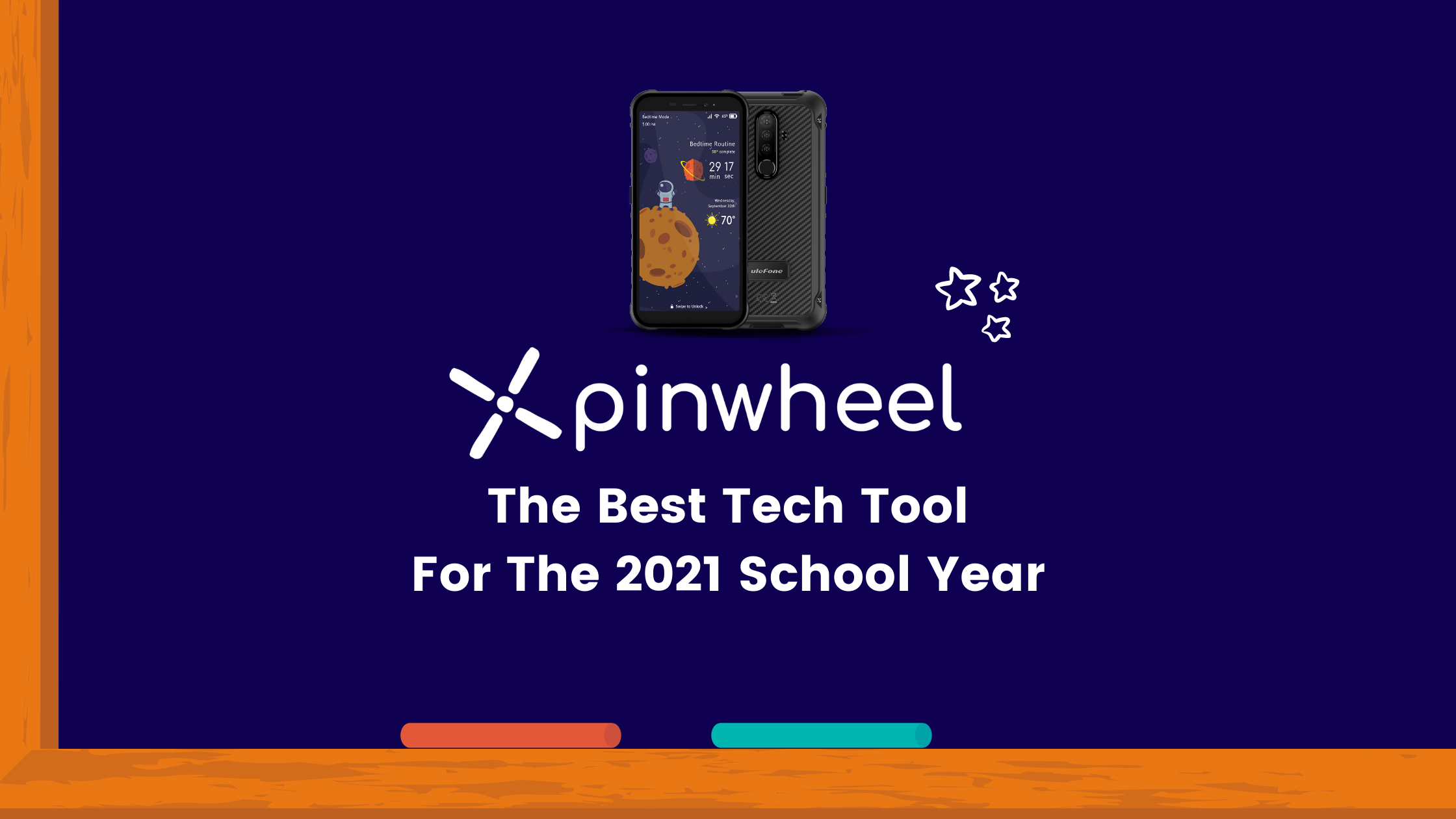 Chalkboard With Image Of Pinwheel Cell Phone - Best Tech Tool For 2021 School Year